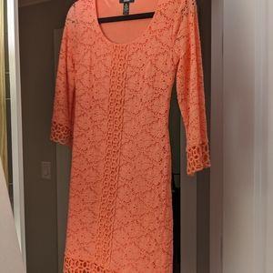 Alfani Crocheted Coral Dress